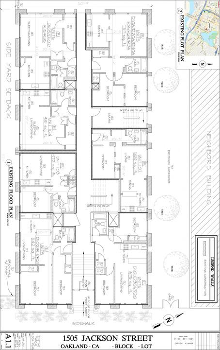 Floorplan: 1505-1511 Jackson St, Oakland