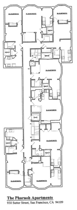 Floorplan: 930 Sutter, San Francisco