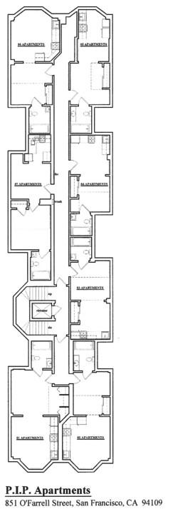 Floorplan: 851 OFarrell Street, San Francisco