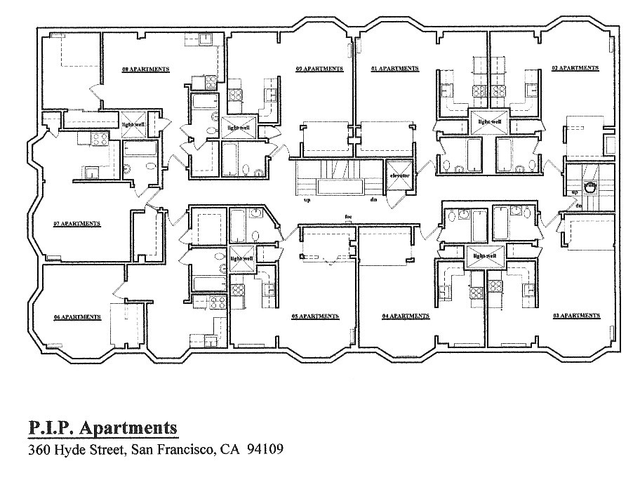 Floorplan: 360 Hyde Street, San Francisco