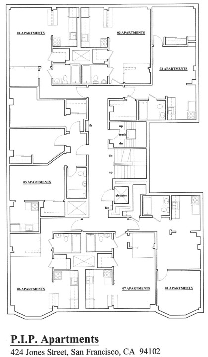 Floorplan: 424 Jones Street, San Francisco